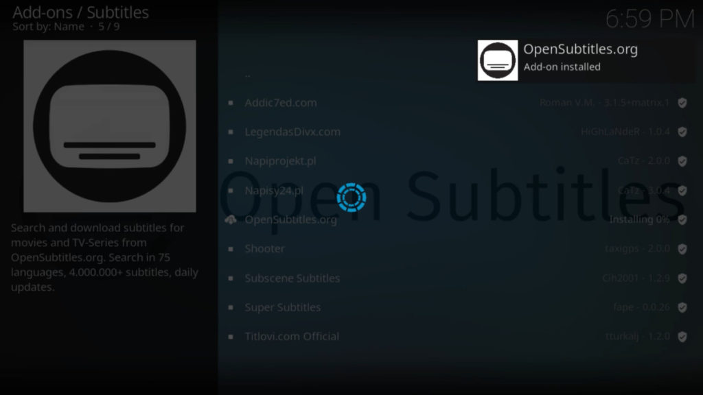 How to get Subtitles for Kodi on Firestick? How to Use OpenSubtitle and Subscene Subtitles? 8